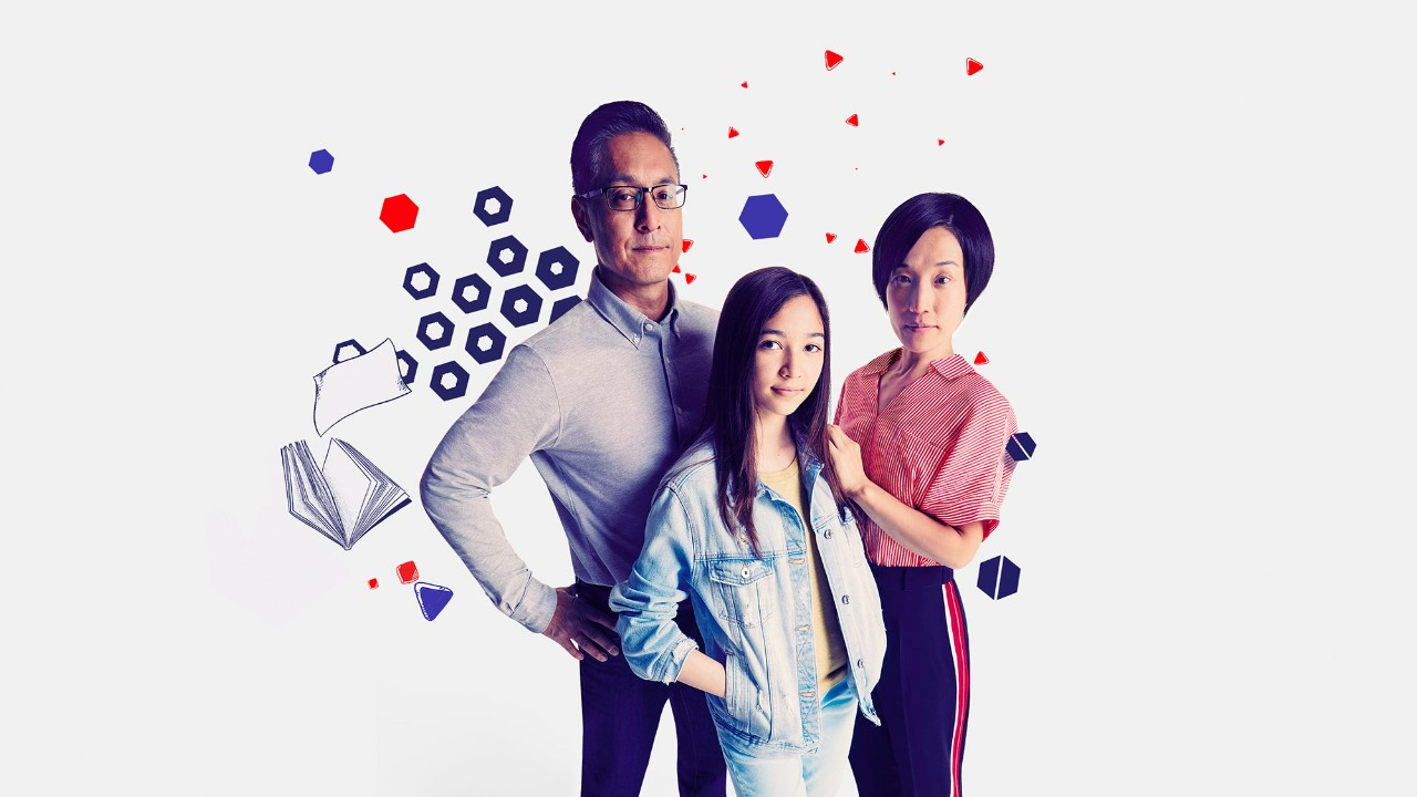 happy mother, father and daughter; image used for HSBC International Services Premier page